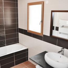 La salle de bain de la chambre Chevreuil - Chambre d'hôtes - Chênehutte-Trèves-Cunault
