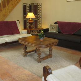 salon avec convertible - Location de vacances - Montreuil-Bellay