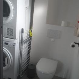 Lingerie : Machine à laver, Sèche linge, Etendoir à linge - Location de vacances - Briollay