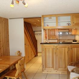 Appartement avec vue exceptionnelle sur massif de la Meije situé à LA Grave (Alpes du Sud) - coin séjour - Location de vacances - La Grave