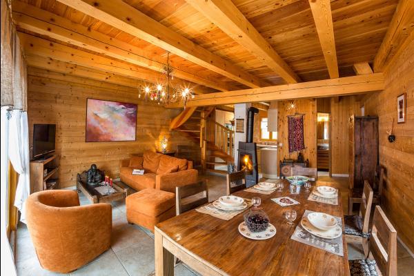 Chalet INTIWASI - réalisé en matériaux écologiques d'un très grand confort proximité immédiate des pistes Alpes du Sud - Location de vacances - Saint-Michel-de-Chaillol