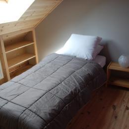 chalet lièvre Blanc- Saint Véran- l'ancolie bleure, chambre 2 lits 90 - Location de vacances - Saint-Véran