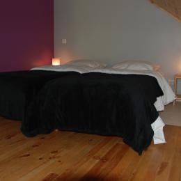 chalet lièvre Blanc- Saint Véran- l'ancolie bleure, chambre 1 lit 90 - Location de vacances - Saint-Véran