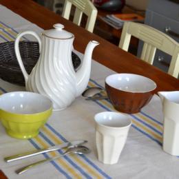 vaisselle petit déjeuner - Location de vacances - Dragey-Ronthon