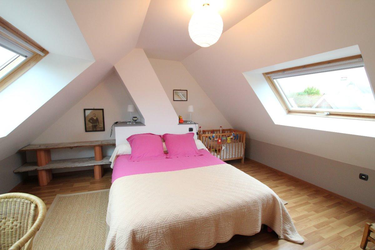 Chambre lit double - Location de vacances - Dragey-Ronthon
