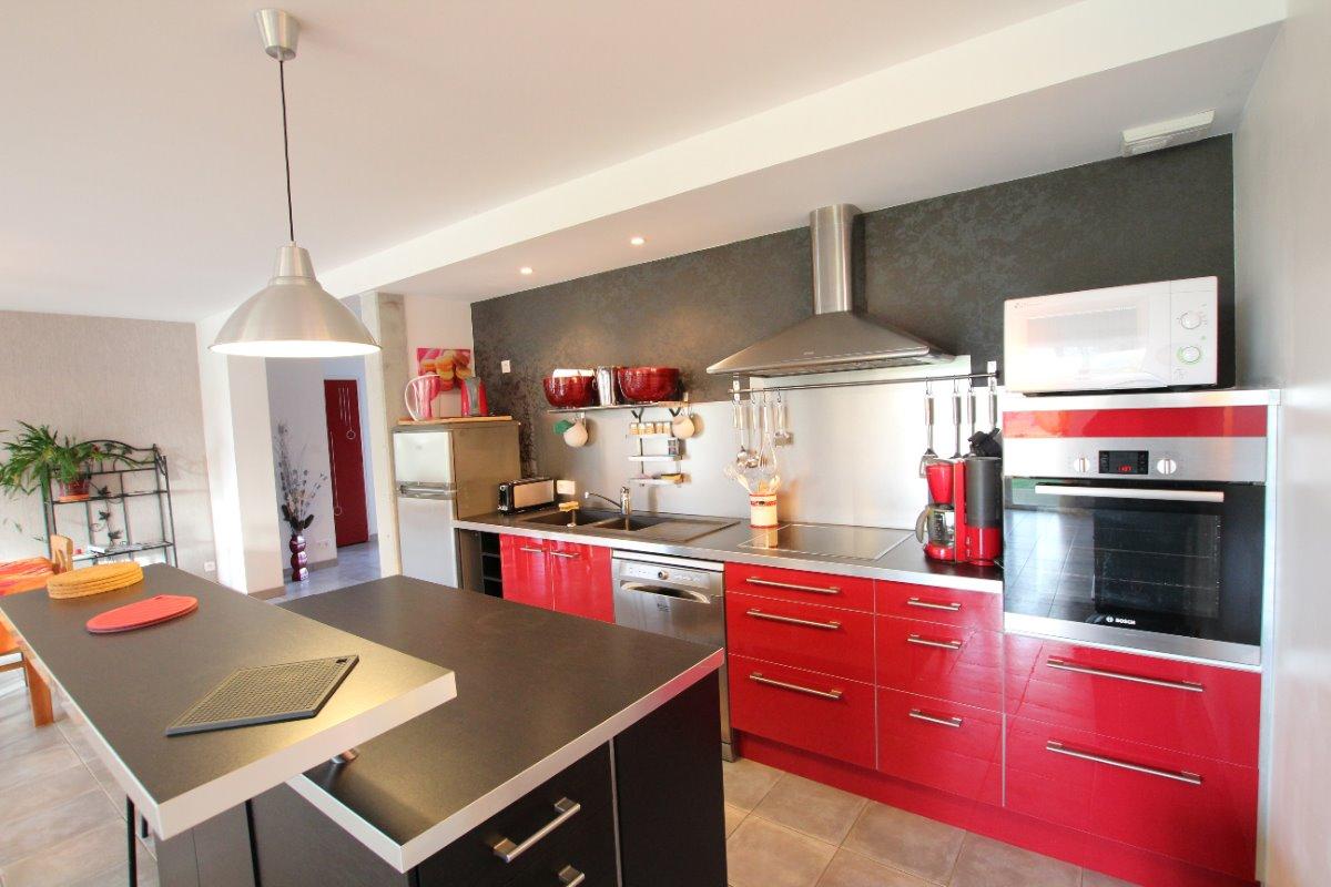 La cuisine ouverte - Location de vacances - Agon-Coutainville