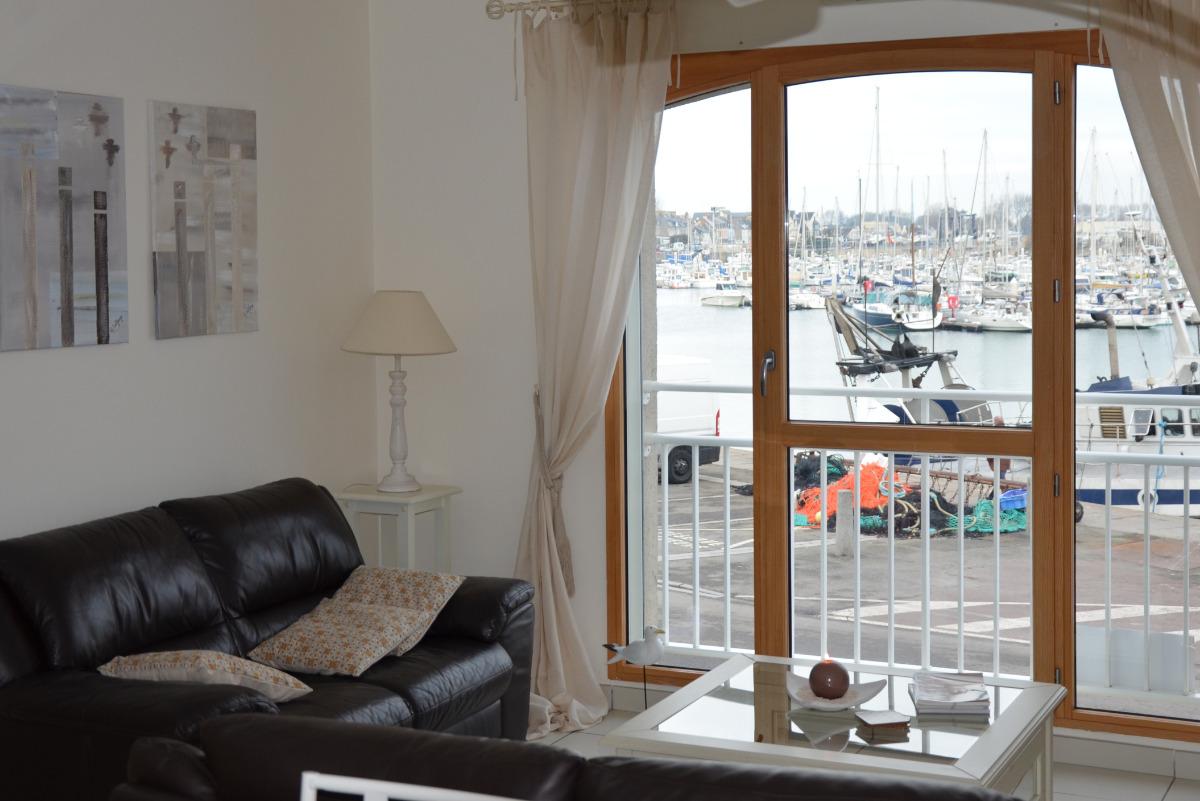 De l'appartement,la vue sur le port - Location de vacances - Saint-Vaast-la-Hougue