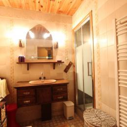 Salle d'eau avec baignoire - Location de vacances - Saint-Jean-de-la-Rivière