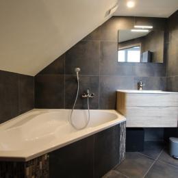 Salle de bains privative 2ème étage - Location de vacances - Barneville-Carteret