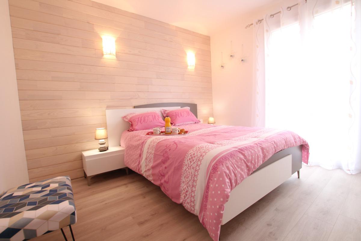 Chambre lit 140 - Location de vacances - Saint-Lô-d'Ourville