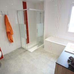 Salle de bains/douche - Location de vacances - Saint-Lô-d'Ourville