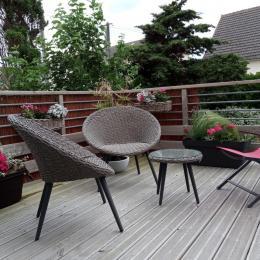le Ponton. la terrasse suspendue en été - Location de vacances - Barneville-Carteret