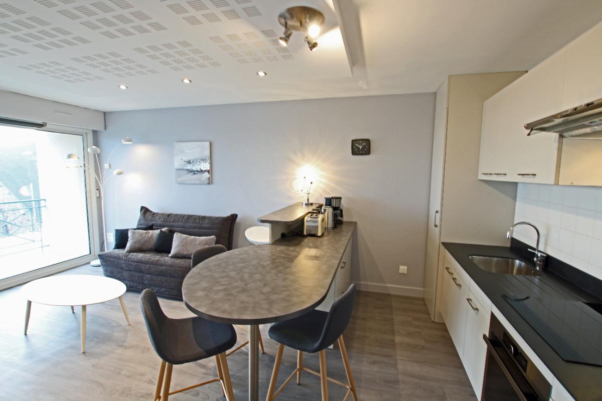 La Jetée - Le séjour - Location de vacances - Saint-Vaast-la-Hougue