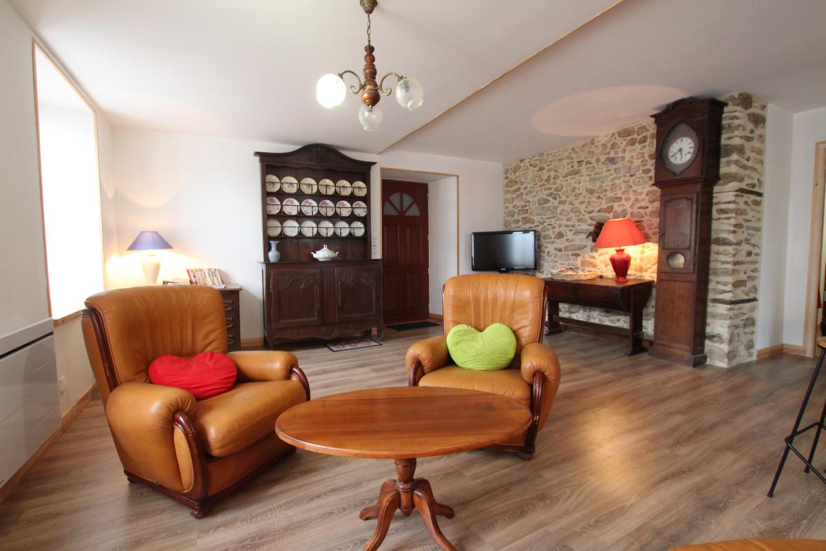 Espace salon - Location de vacances - Quettehou
