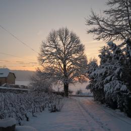 soleil levant sur le gite hiver 2018 - Location de vacances - Nanteuil-la-Forêt