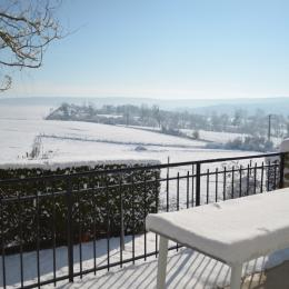 vue de la terrasse hiver 2018 - Location de vacances - Nanteuil-la-Forêt