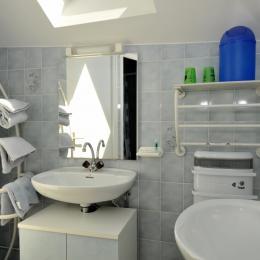 Salle d'eau Chambre Marine - Chambre d'hôtes - Verzy