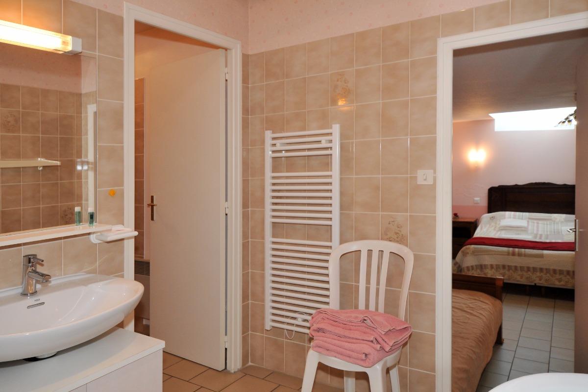 Salle d'eau chambre ANTAN - Chambre d'hôtes - Verzy
