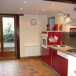 Accès cuisine : terrasse et jardin - Location de vacances - Cormoyeux