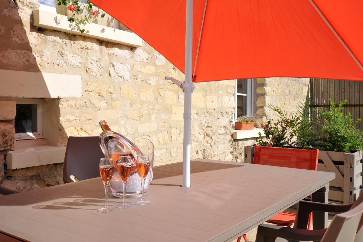Terrasse accès depuis salon et cuisine - Location de vacances - Vandeuil