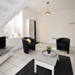 Espace salon vue sur terrasse et vignes - Location de vacances - Vandeuil