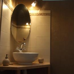 Salle de bains Pierre de Lune - Chambre d'hôtes - Mareuil-le-Port