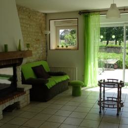 salon avec cheminée - Location de vacances - Arc-en-Barrois