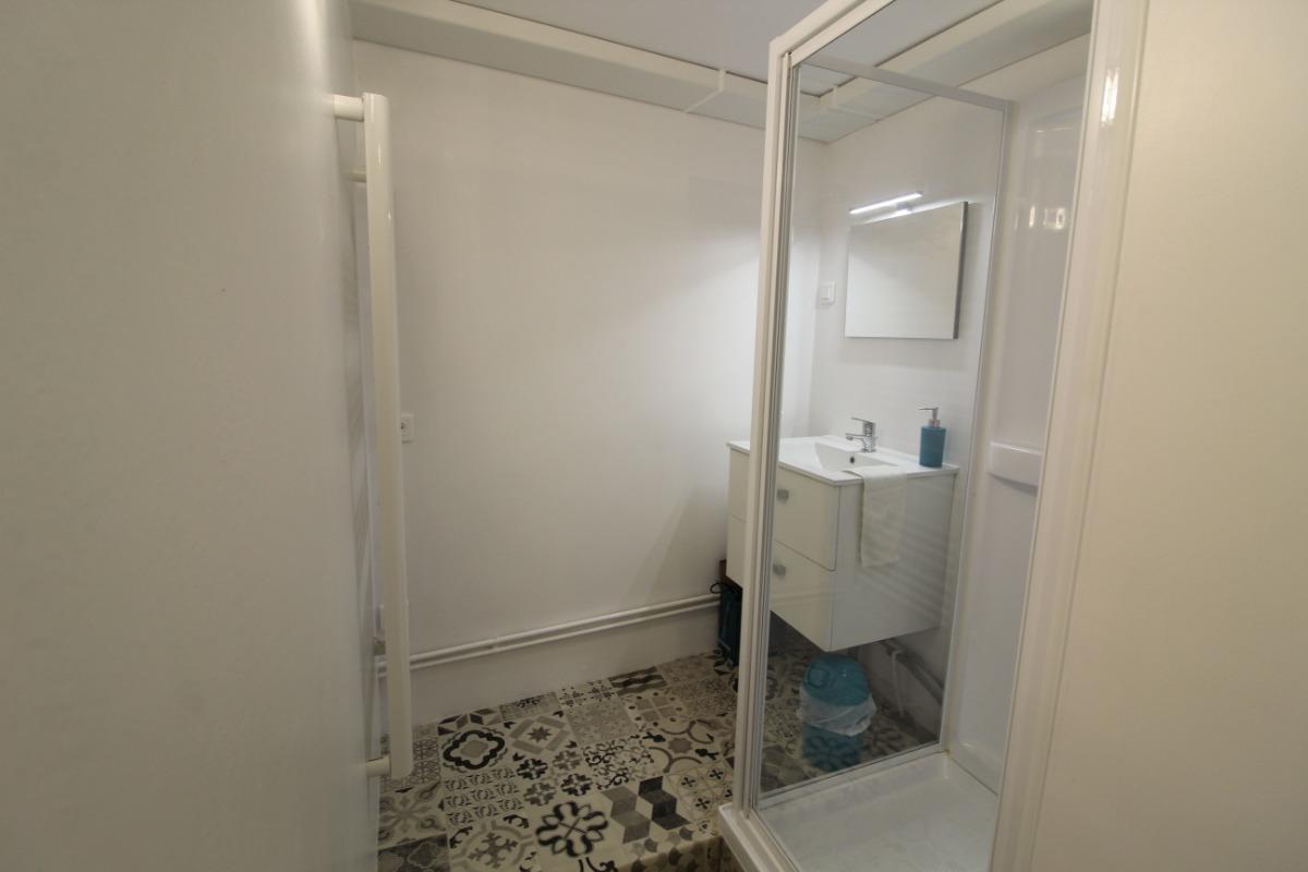 salle d'eau  - Location de vacances - Lachaussée