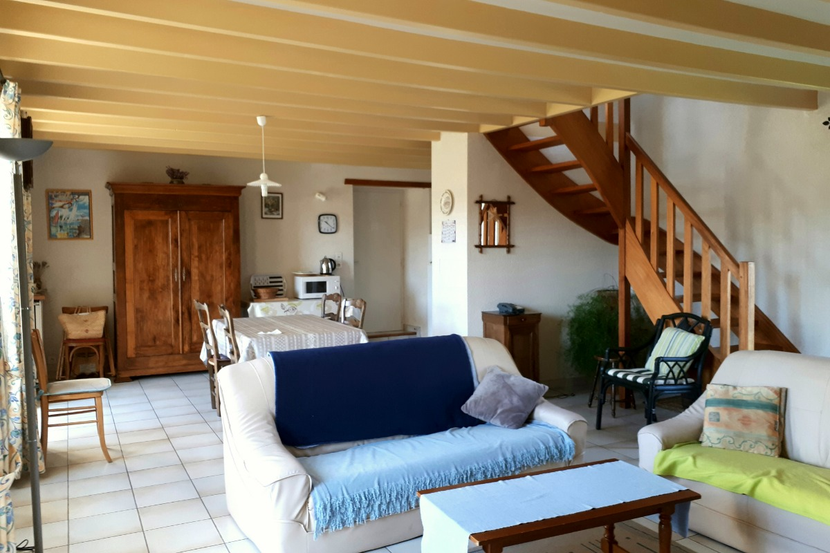 salon - salle à manger - Location de vacances - Larmor-Baden