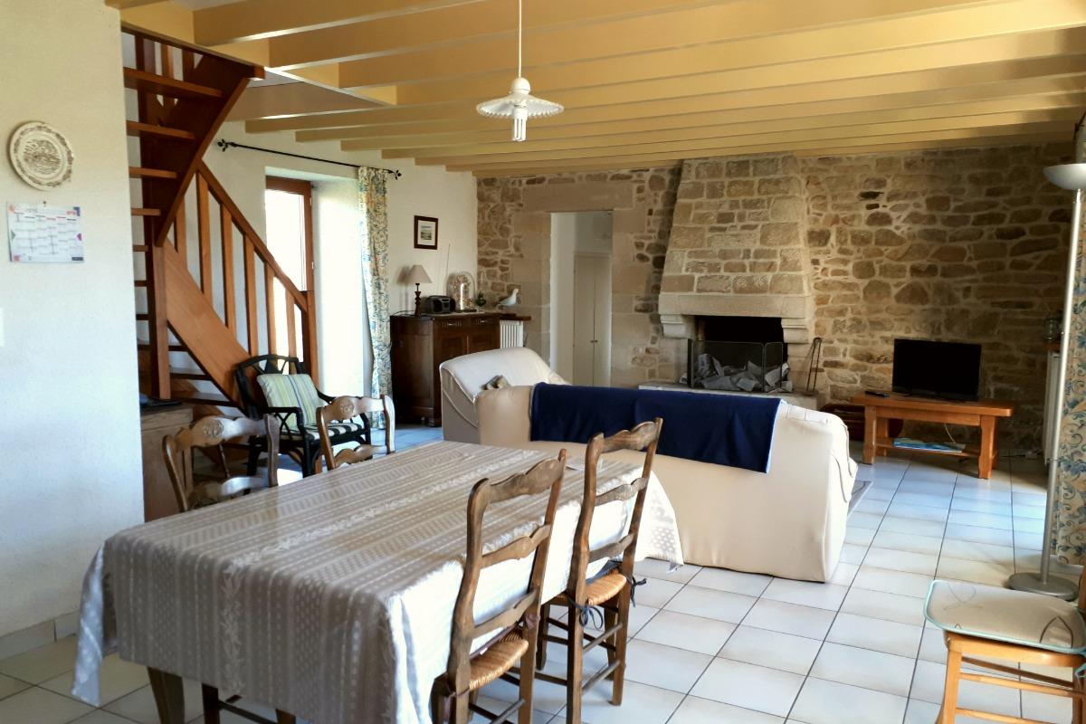 salle à manger - salon - Location de vacances - Larmor-Baden