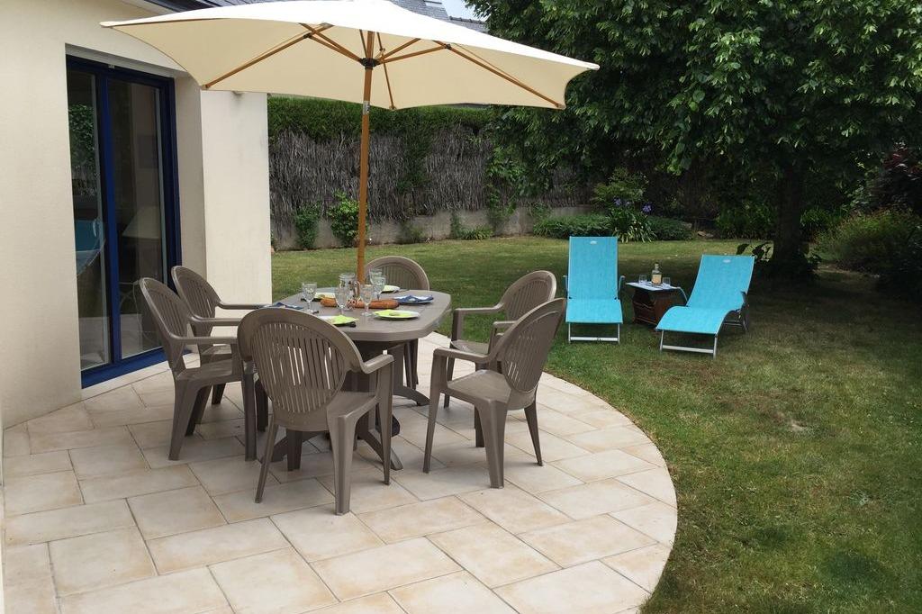 terrasse et jardin - Location de vacances - Arzon