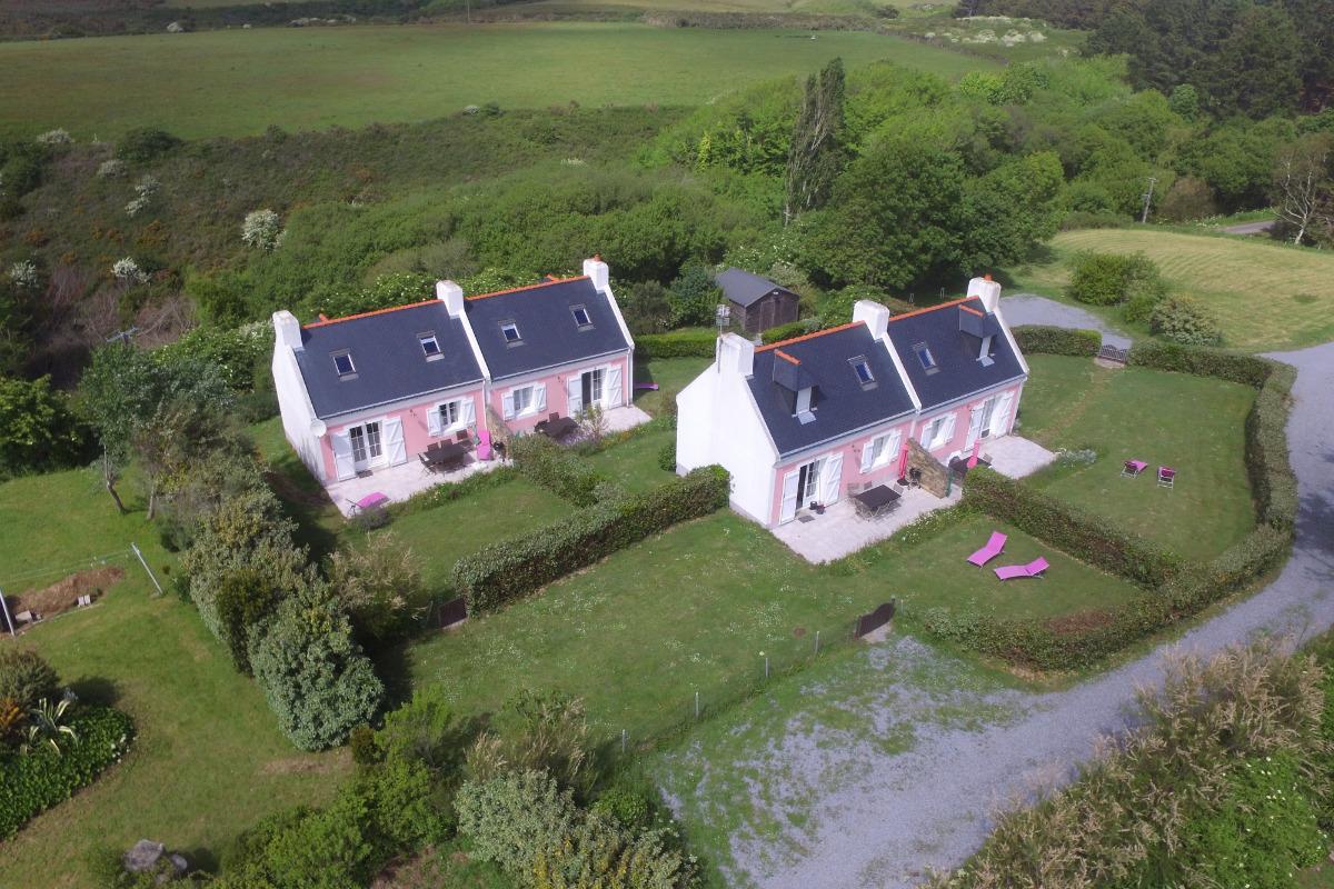les 4 maisons vue du ciel - Location de vacances - Bangor