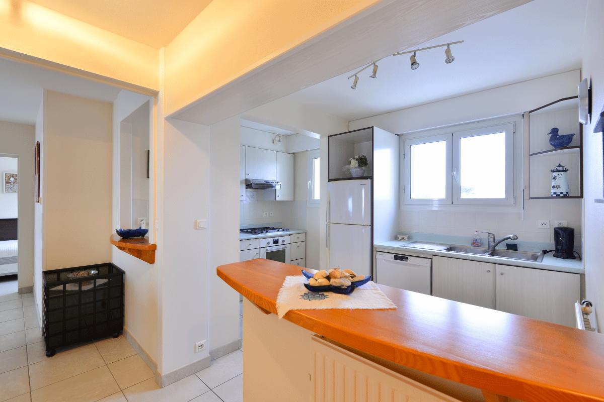 Terrasse avec vue sur l'océan - Location de vacances - Larmor-Plage