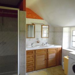Salle de bain équipée d'un lave linge - Location de vacances - Ruffiac