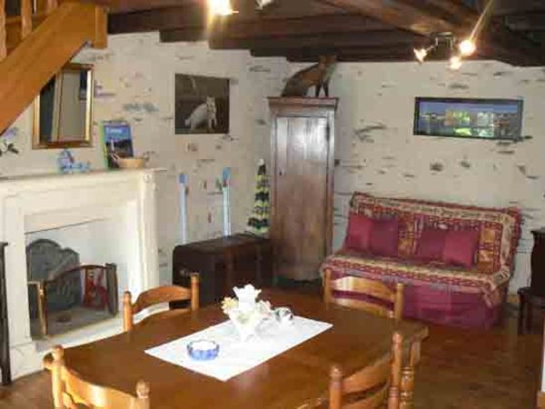 Séjour- salon - Location de vacances - Les Fougerêts