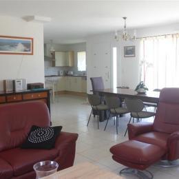 salon / salle à manger - Location de vacances - Erdeven