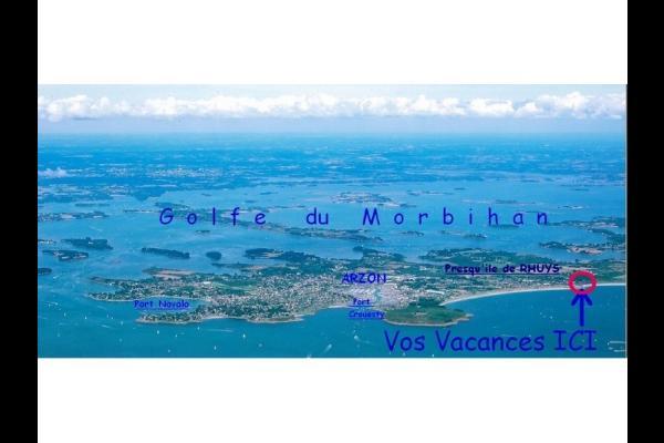En bordure d'océan et près du Golfe du Morbihan - Location de vacances - Arzon