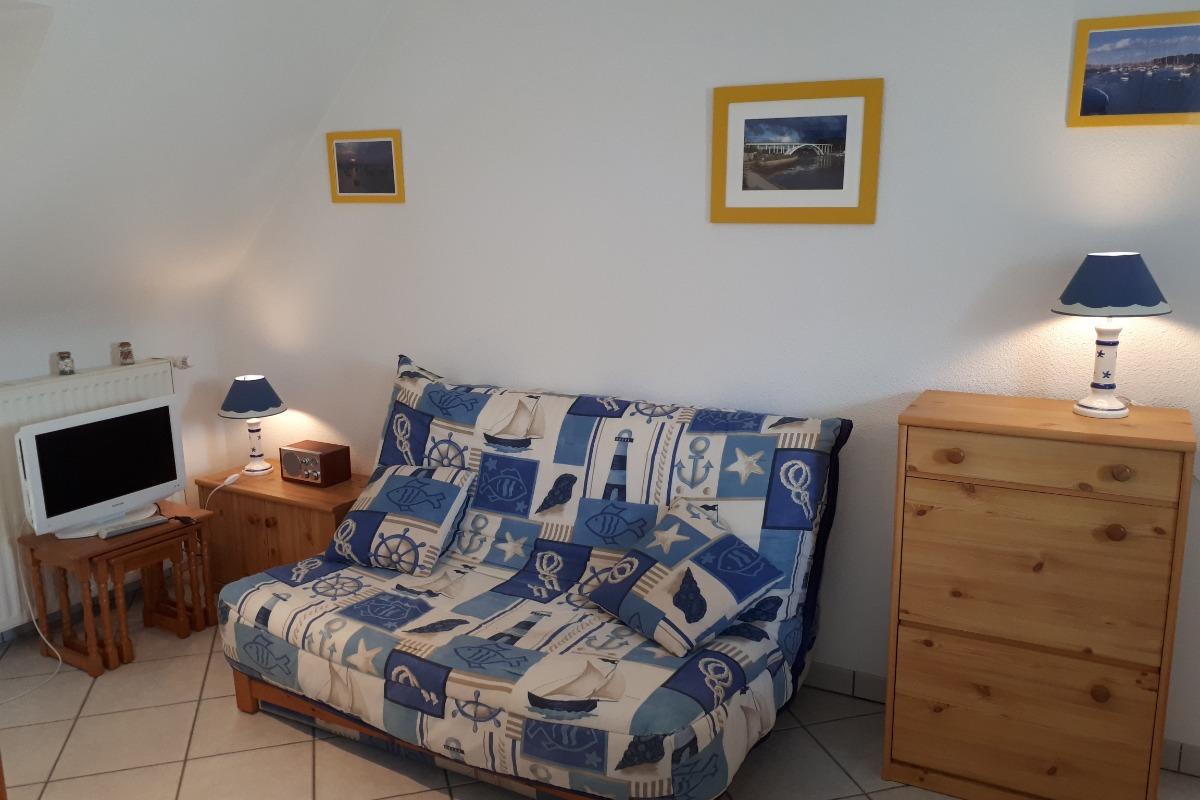 Salon avec TV - Location de vacances - La Trinité-sur-Mer