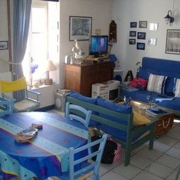 vue d'ensemble de la grande pièce - Location de vacances - La Trinité-sur-Mer