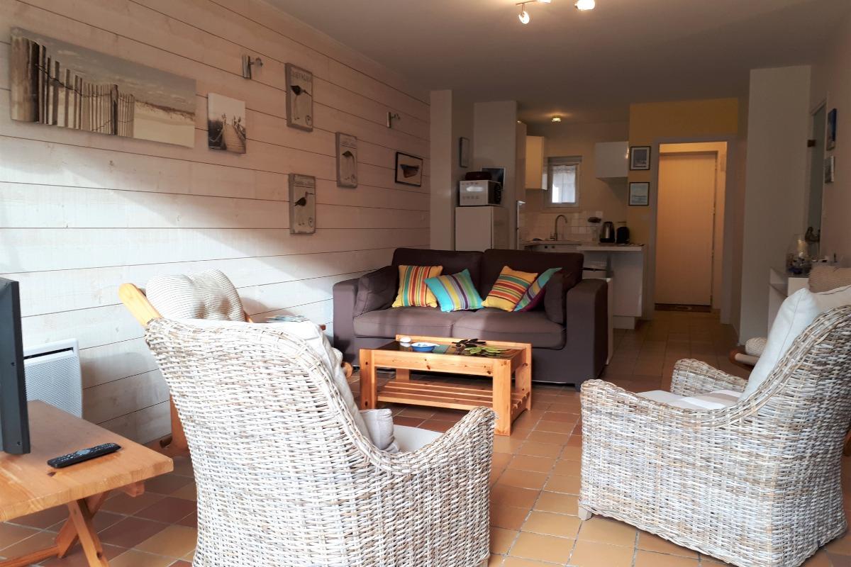 Salon et cuisine - Location de vacances - Carnac