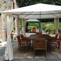 Terrasse salon de jardin - Chambre d'hôtes - Peillac