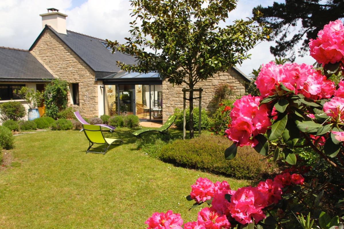 Jardin devant la maison - Location de vacances - Arzon