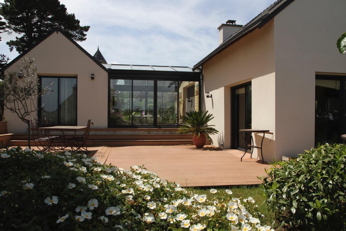 Terrasse de 50m2 en bois exotique (Ipé) - Location de vacances - Arzon