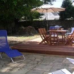 lézarder au soleil sur la terrasse - Location de vacances - Île-aux-Moines