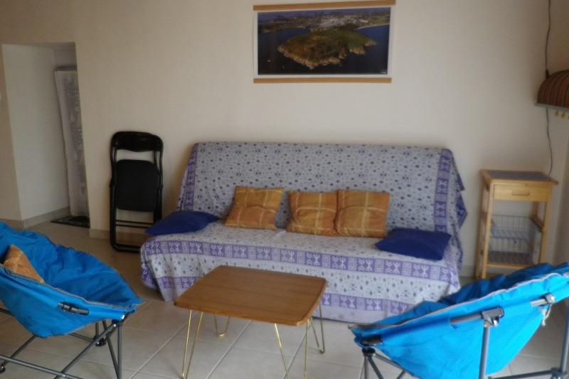 coin salon rez de chaussée - Location de vacances - Saint-Guyomard