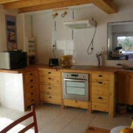 rez de chaussée, entrée et coin cuisine - Location de vacances - Saint-Guyomard