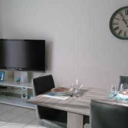 tv écran plat tnt + lecteur dvd  - Location de vacances - Meslan