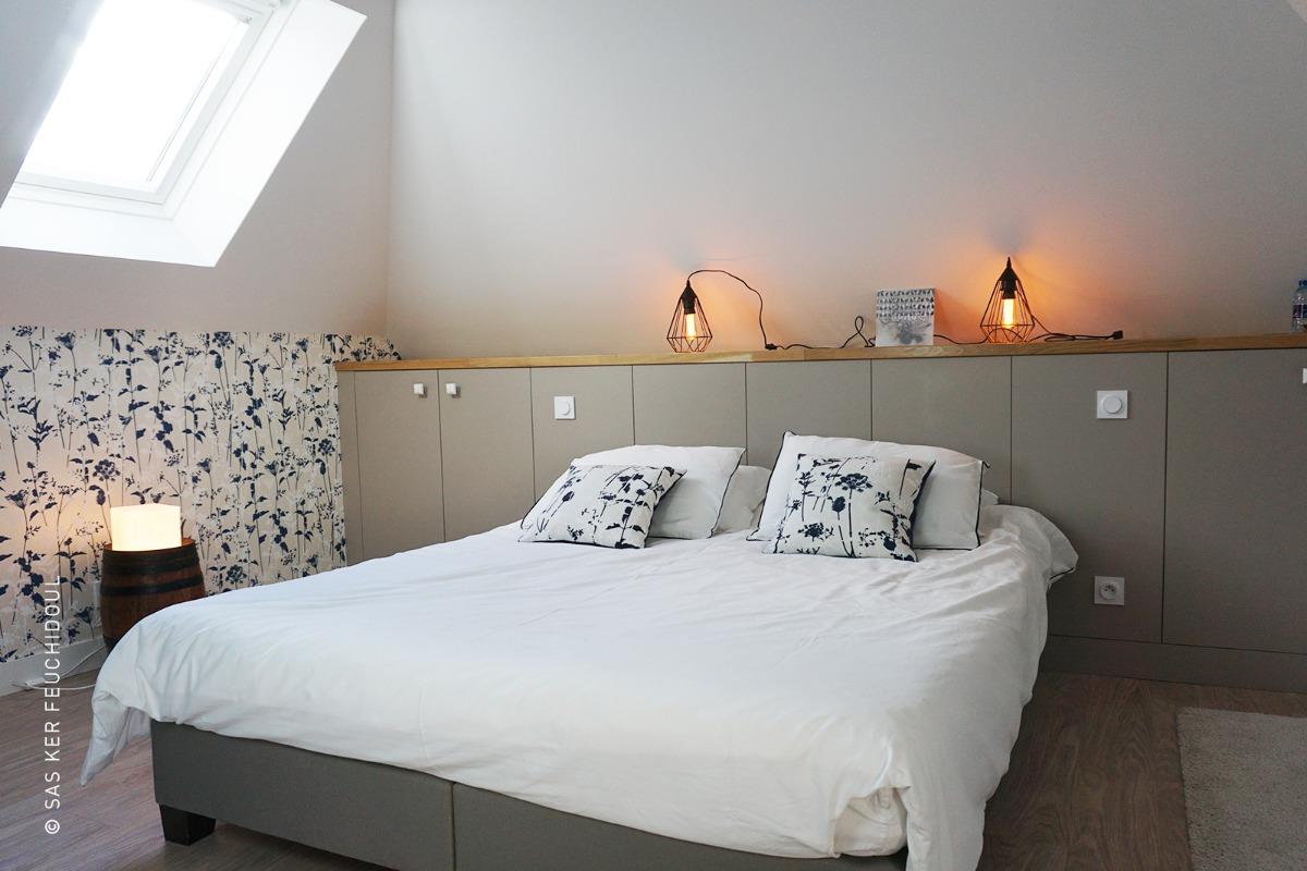 LA LICORNE, chambre de 2 personnes, , en Bretagne sud, piscine chauffée, jardin clos. - Chambre d'hôtes - Merlevenez