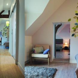 L'ARBRE DE FAMILLE, suite de 4 personnes, , en Bretagne sud, piscine chauffée, jardin clos. - Chambre d'hôtes - Merlevenez