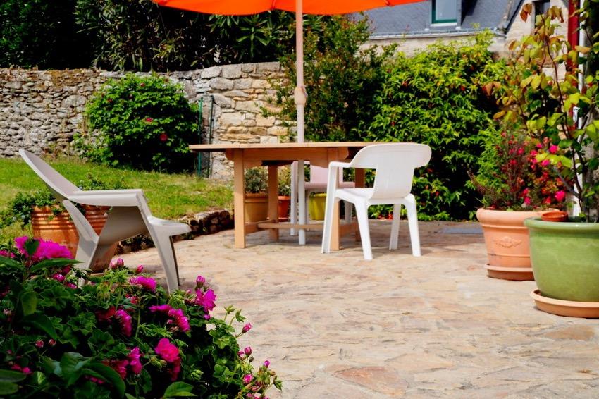 Le rez de jardin et sa terrasse plein sud - Location de vacances - Quiberon